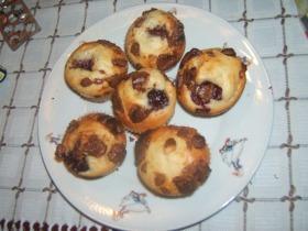 Cseresznyés csokis muffin