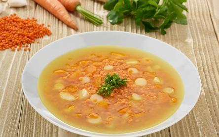 Zöldséges vöröslencse leves