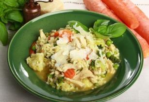 Csirkehúsos zöldséges rizottó