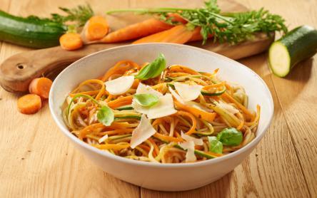 Sárgarépás, cukkínis spagetti