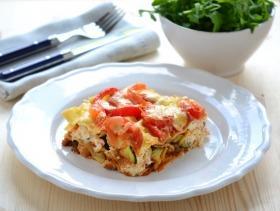 Zöldséges lasagne sonkával és ricottával