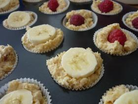 Málnás banános muffin