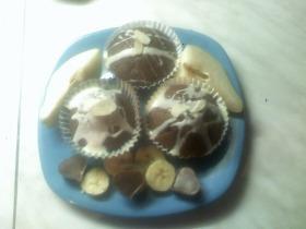 Banános-körtés csupacsoki muffin