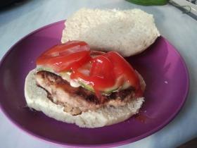Házi sertéshamburger