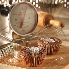 Málnás csokoládés muffin