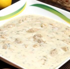 Gombás sertésbecsinált leves