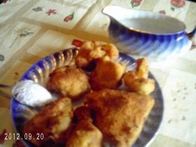 Rántott csirke és karfiol
