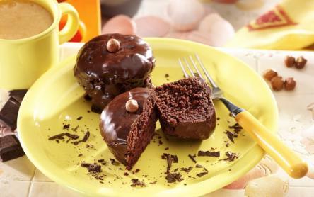Mogyorókrémes, csokimázas muffin