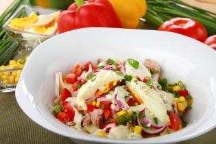 Farfalle tésztás saláta tonhallal