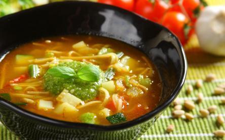Zöldségleves pestóval - Soupe au pistou