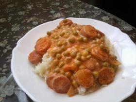 Virslis-borsós rizs