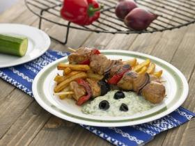 Görög nyárson sült sertésszűz  tzatzikivel