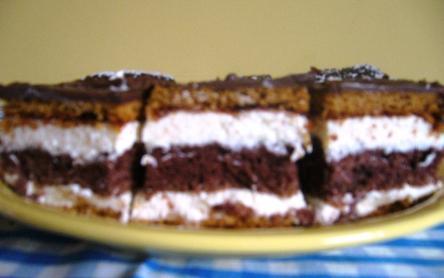 Kókuszkrémes kakaós süti