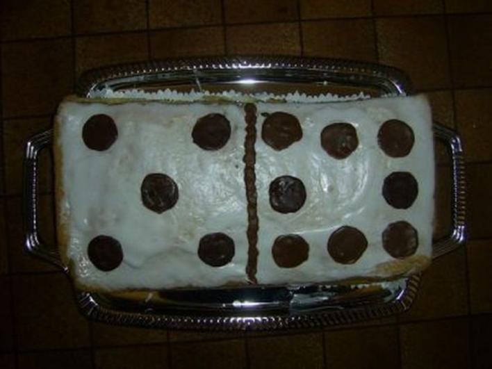 Dominó torta
