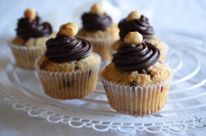 Zabpelyhes muffin házi csokis mogyorókrémmel