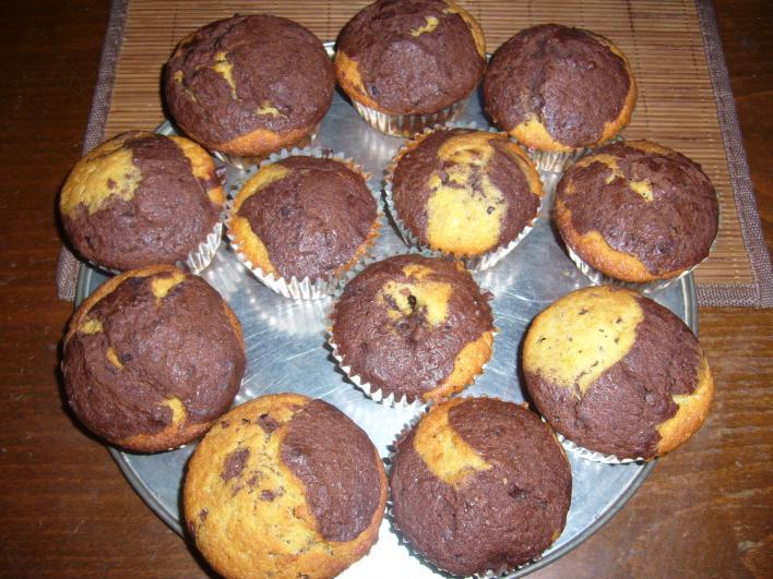 Kétszínű muffin