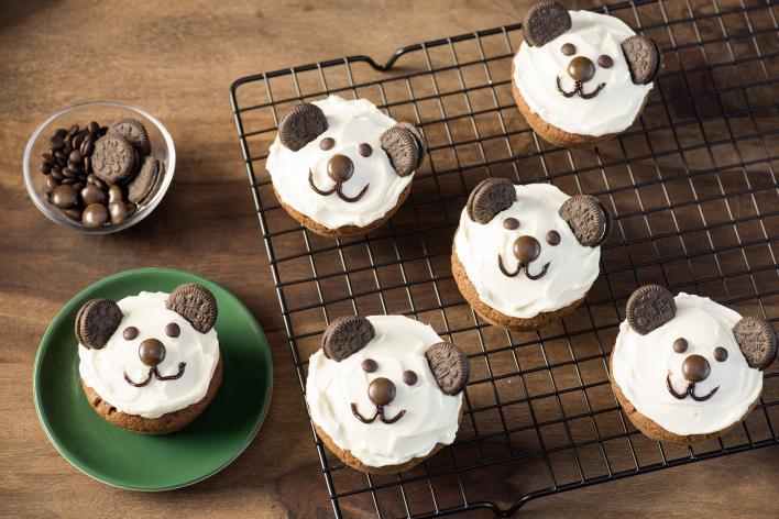 Panda muffinok