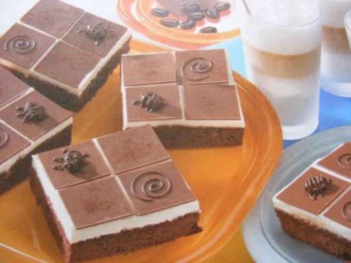 Csokoládés-túrós kocka