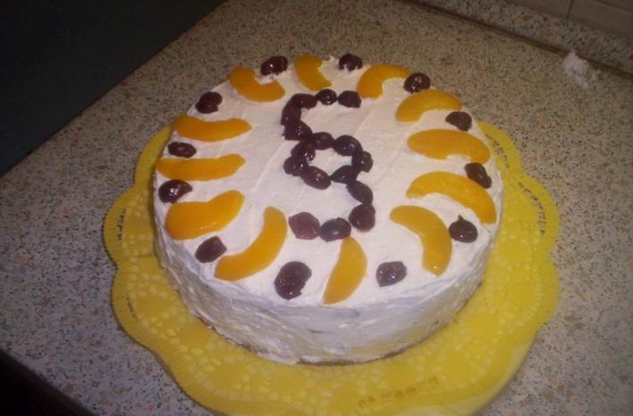 Kakaós-barackos torta
