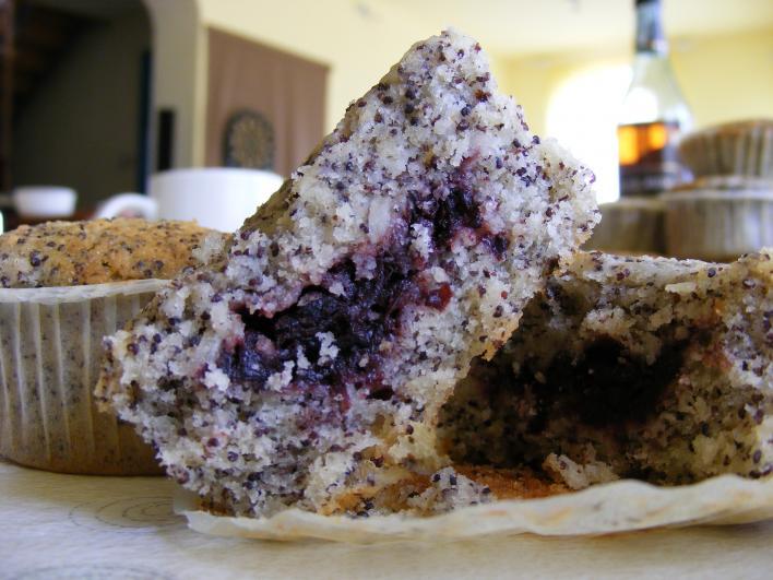 Mákos-kókuszos-lekváros muffin (bögrés)