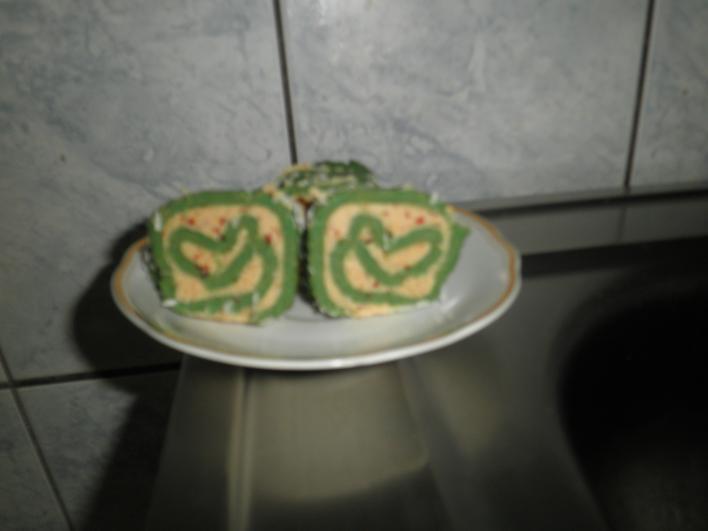 Mandulás keksztekercs