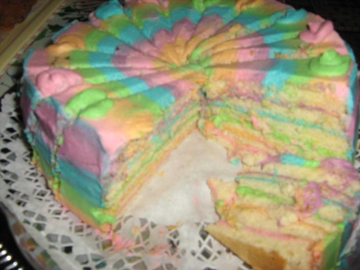 Szívárvány torta