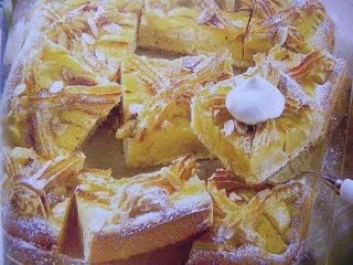 Marcipánrácsos almás pite