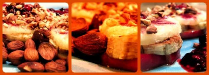 Alma-Banán mézes szendvics