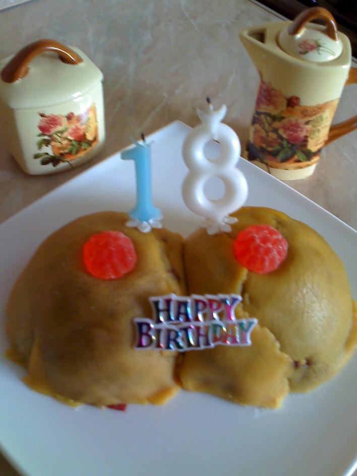 Marcipános, diós torta