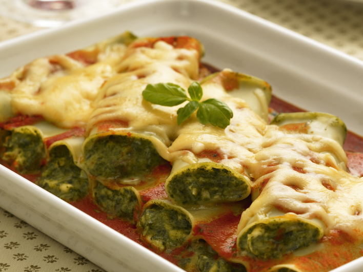 Spenótos cannelloni