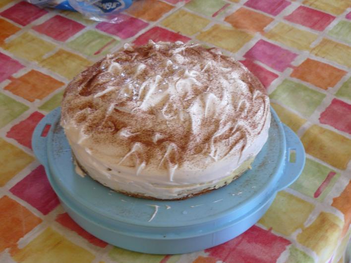 Karamellás diós torta