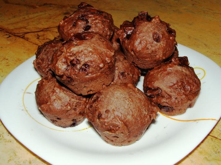 Csokis mini muffin