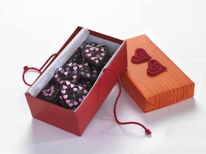 Szív alakú Valentin-napi süti