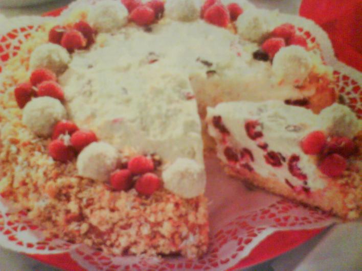 Málnás-kókuszos torta