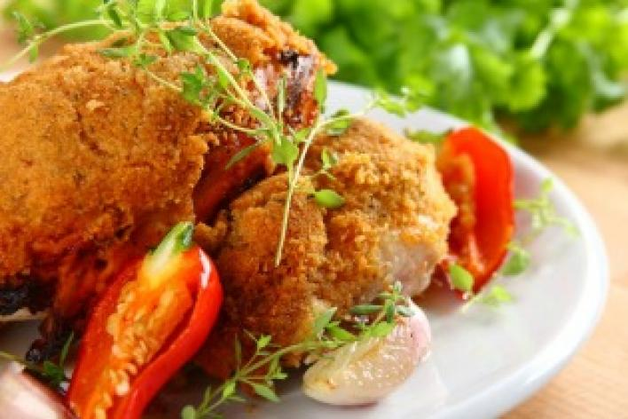 Pikáns sült csirke
