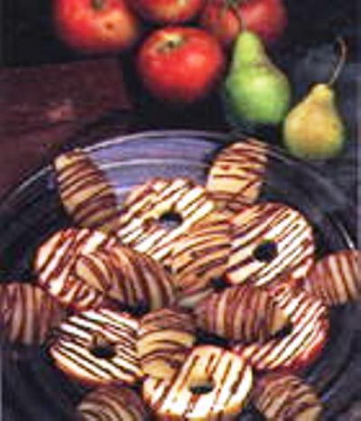 Csokoládés almakarikák