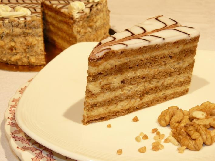 Eszterházy-torta díszítési leírással