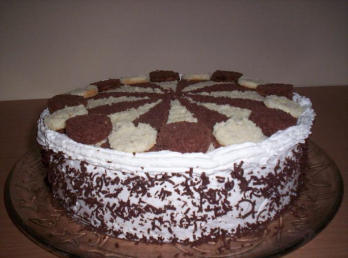 Szerencsekerék torta