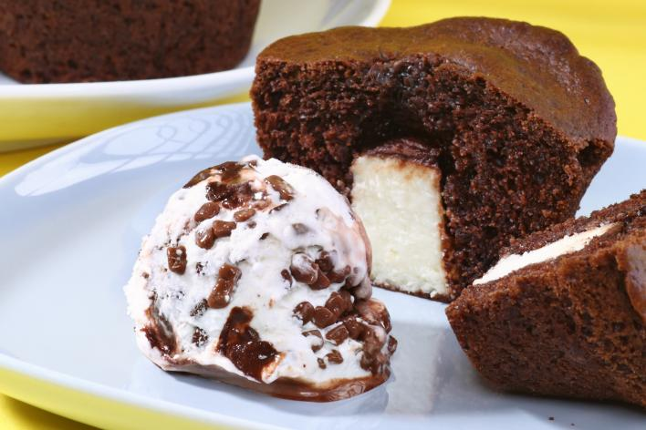 Túró Rudi muffin stracciatella jégkrémmel