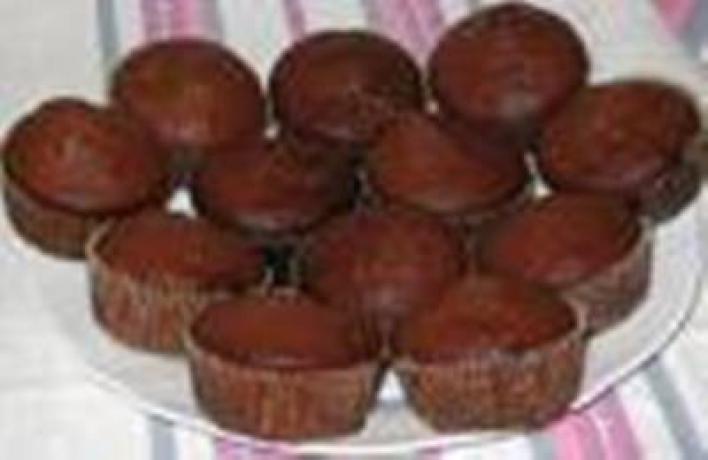 Csokis-mogyorós muffin