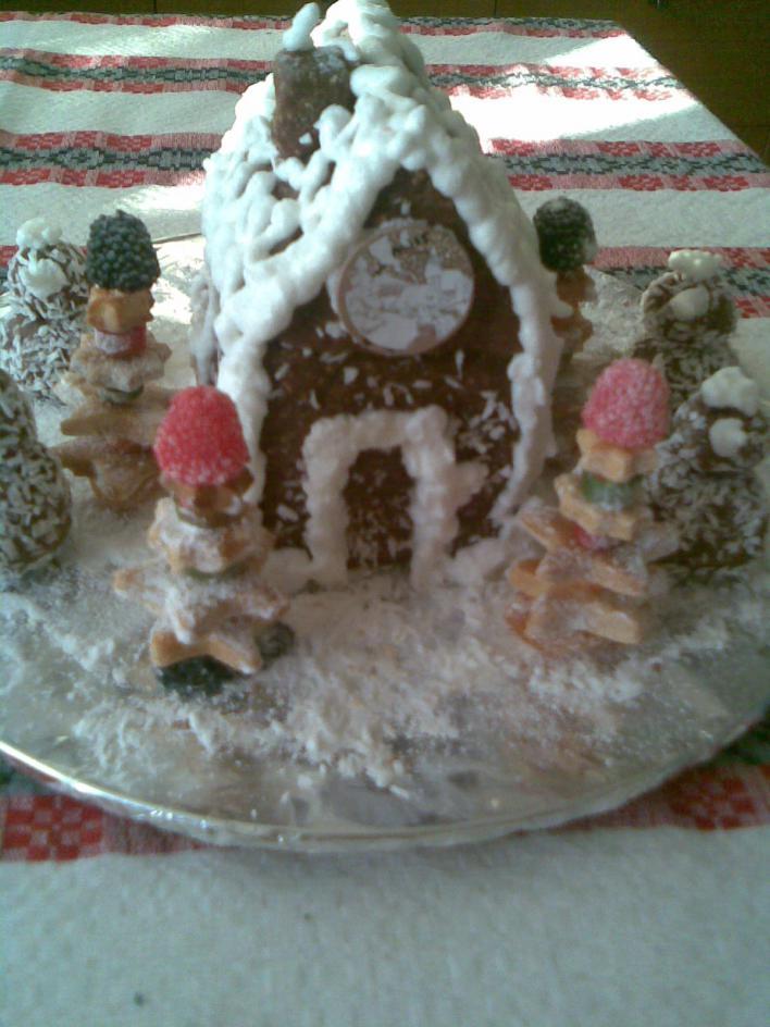 Karácsonyi házikó sütés nélkül