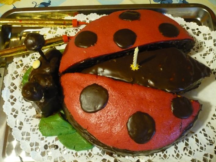 Csokoládés Katica torta