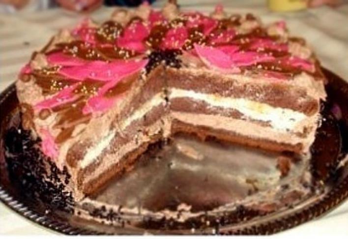 Banános-csokis torta