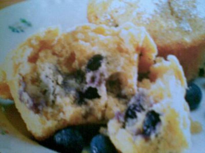 Áfonyás-zabpelyhes muffin