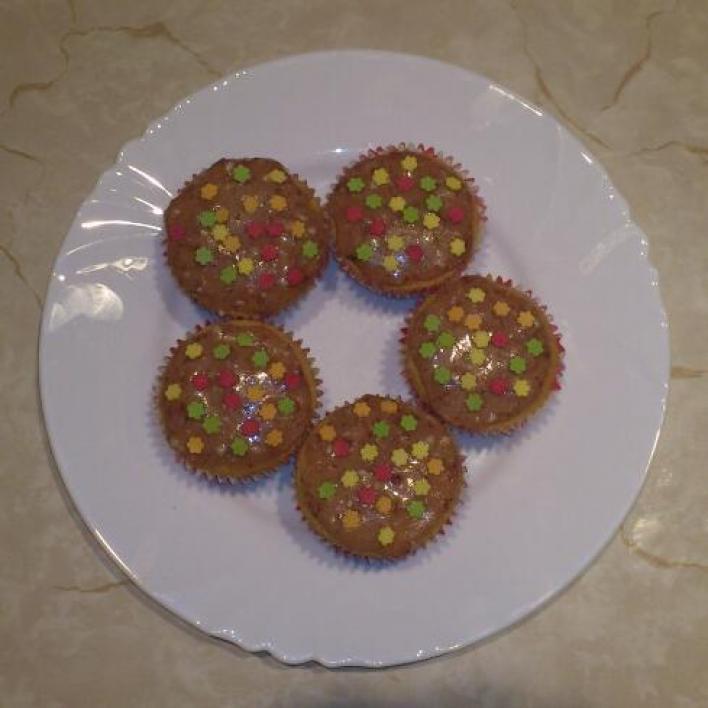 Eperkrémes muffin (cupcake)