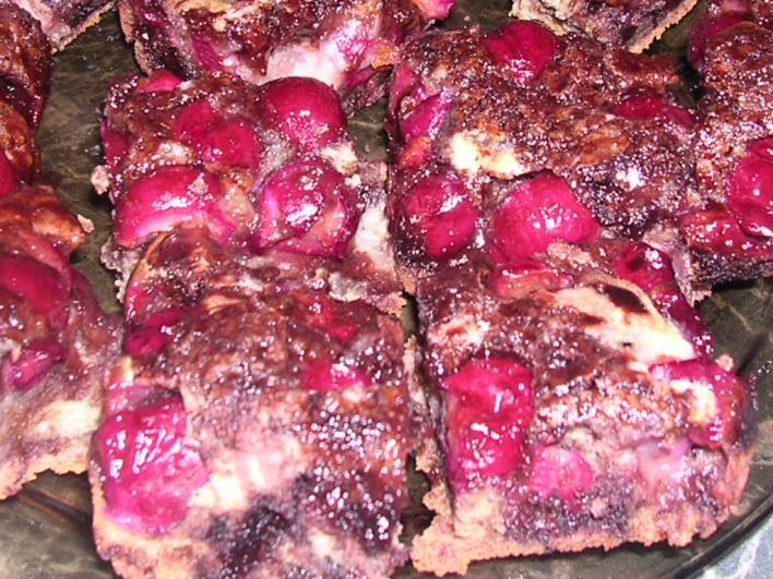 Csokoládés-meggyes pite