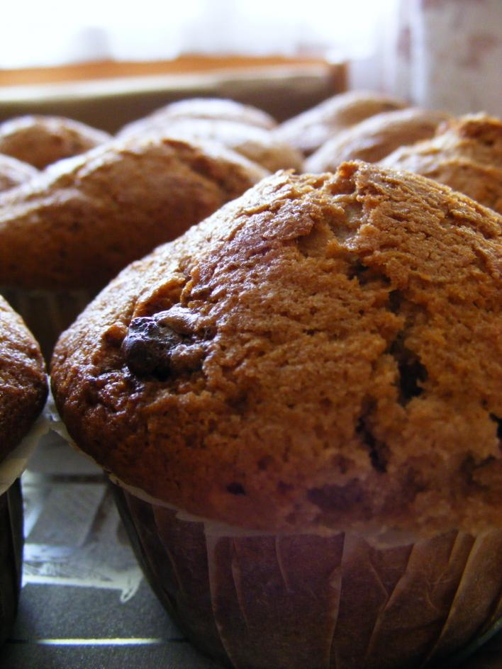 Kókuszos-csokis muffin