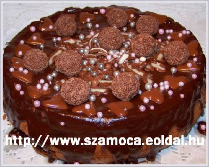 Borozzi, olasz liszt nélküli csokitorta