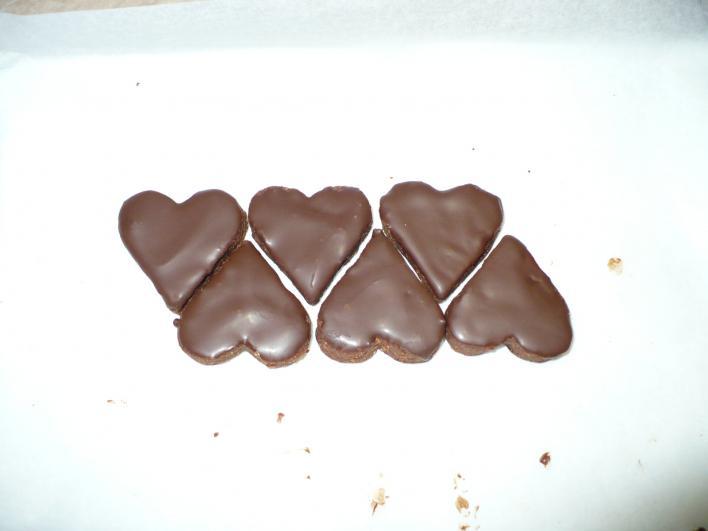 Csokoládés szívecskék