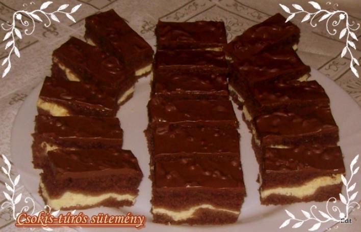 Csokis-túrós sütemény
